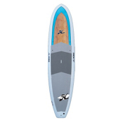 Hobie ATR II 11ft Recreational Stand Up Paddleboard 2014, Aqua-Bamboo, medium