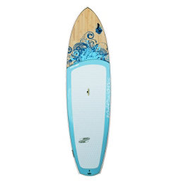 Boardworks Surf Sirena EXPV 10'4 Recreational Stand Up Paddleboard, Blue-Wood-Sky Blue, 256