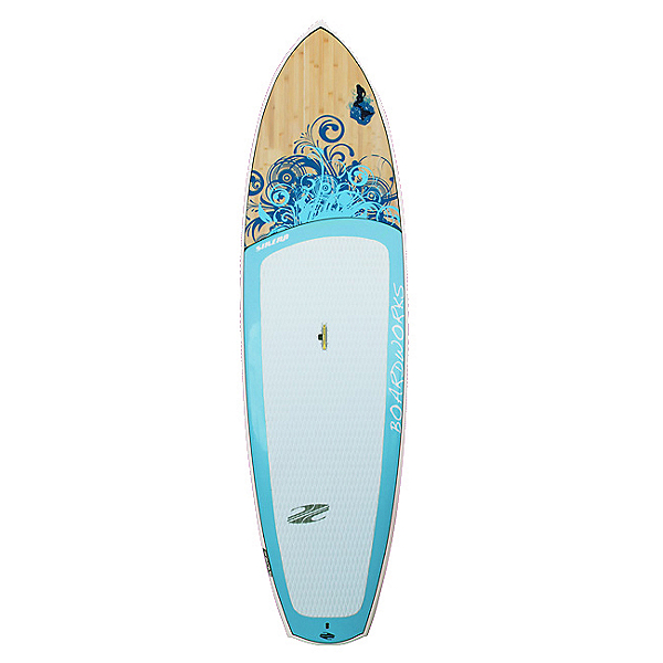 Boardworks Surf Sirena EXPV 10'4 Recreational Stand Up Paddleboard, Blue-Wood-Sky Blue, 600