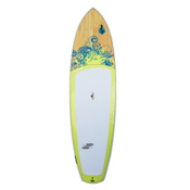 Boardworks Surf Sirena EXPV 10_4 Recreational Stand Up Paddleboard, Grey-Wood-Light Yellow, medium