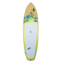 Boardworks Surf Sirena EXPV 10'4 Recreational Stand Up Paddleboard, Grey-Wood-Light Yellow, 256