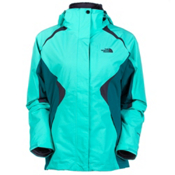 The North Face Boundary Triclimate Womens Insulated Ski Jacket, Mint Blue-Fanfare Green-Greyst, medium