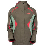 The North Face Boundary Triclimate Womens Insulated Ski Jacket, New Taupe Green-Sea Spray Gree, medium