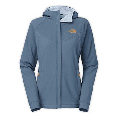 The North Face Maddie Raschel Hoodie Womens Soft Shell Jacket, Greystone Blue-Dapple Grey, viewer