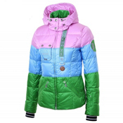 Bogner Kaja D Womens Insulated Ski Jacket, Shadow Pink-Ice Blue-Fresh Gre, medium
