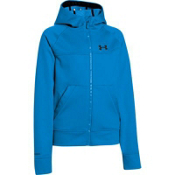 Under Armour Coldgear Infrared Softershell Kids Hoodie, Electric Blue-Black, medium