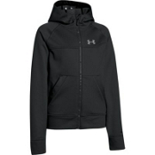 Under Armour Coldgear Infrared Softershell Kids Hoodie, Black-Steel, medium