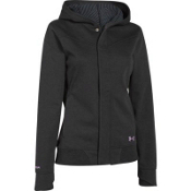 Under Armour ColdGear Infrared Echos Cotton Womens Soft Shell Jacket, Asphalt Heather Black, medium
