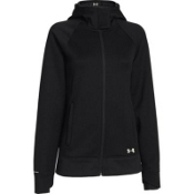 Under Armour ColdGear Infrared Zenith Womens Hoodie, Black-Ivory, medium