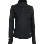 Under Armour Delma 1/4 Zip Womens Mid Layer, Black-Ivory, medium