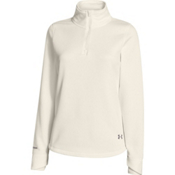 Under Armour Delma 1/4 Zip Womens Mid Layer, Ivory-Steeple Gray, medium
