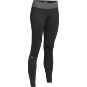Under Armour ColdGear Infrared Devo Womens Long Underwear Pants, Asphalt Heather-Steeple Gray, medium