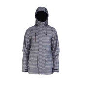 Cappel Magnificent Mens Shell Snowboard Jacket, Smoke Stripe, medium
