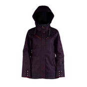 Cappel Cherry Bomb Womens Insulated Snowboard Jacket, Black Waxed Slub, medium