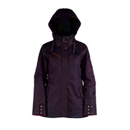 Cappel Cherry Bomb Womens Insulated Snowboard Jacket, Black Waxed Slub, 256