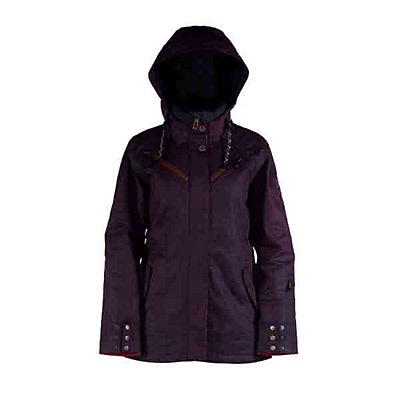 Cappel Cherry Bomb Womens Insulated Snowboard Jacket, Black Waxed Slub, viewer
