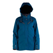 Cappel Cherry Bomb Womens Insulated Snowboard Jacket, Seaport Blue Melange, medium
