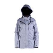 Cappel Cherry Bomb Womens Insulated Snowboard Jacket, Silver Gray Chambray, medium