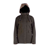 Cappel Secret Womens Insulated Snowboard Jacket, Canteen Tweed, medium