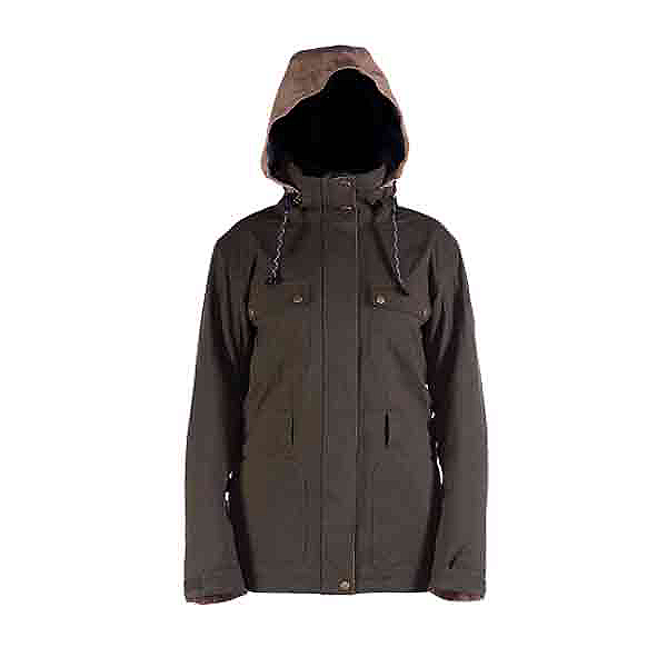 Cappel Secret Womens Insulated Snowboard Jacket, Canteen Tweed, 600