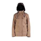 Cappel Secret Womens Insulated Snowboard Jacket, Camel Wool, medium