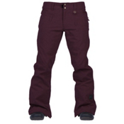 Cappel Wasted Womens Snowboard Pants, Bordeaux Melange, medium