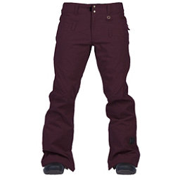 Cappel Wasted Womens Snowboard Pants, Bordeaux Melange, 256