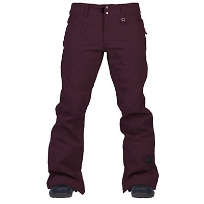 Cappel Wasted Womens Snowboard Pants, Bordeaux Melange, viewer