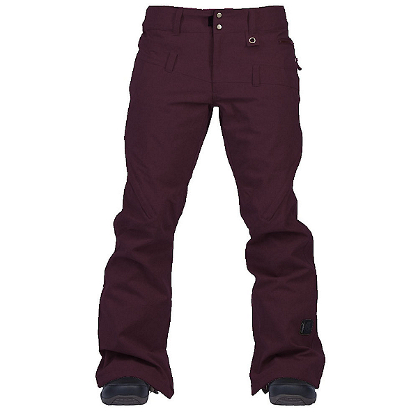 Cappel Wasted Womens Snowboard Pants, Bordeaux Melange, 600