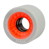 Radar Presto 59 4 Pack Roller Skate Wheels, Highlighter Red Orange, medium
