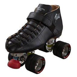 Riedell Black Widow Boys Derby Roller Skates, , 256