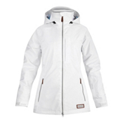 Dakine Lily Womens Insulated Ski Jacket, White, medium