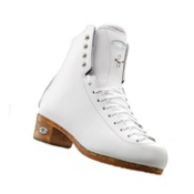 Riedell 875 Silver Star Womens Figure Ice Skates, White, medium