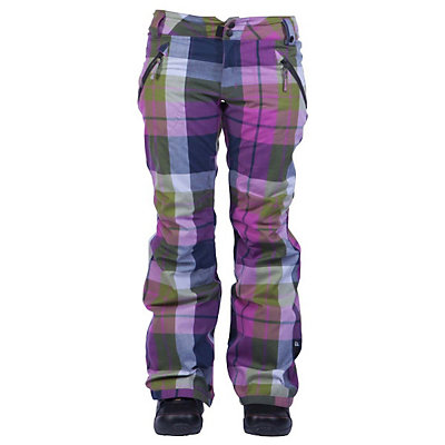 Ride Leschi Womens Snowboard Pants, Aqua Mini Dot, viewer