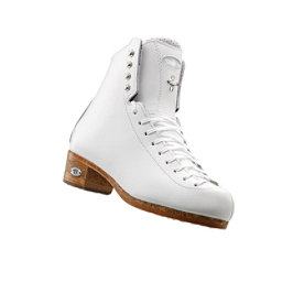 Riedell Silver Star Girls Figure Ice Skates, White, 256