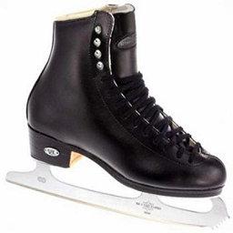 Riedell 229 Edge Mens Figure Ice Skates, Black, 256