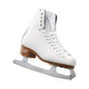 Riedell 29 Edge Girls Figure Ice Skates, White, medium