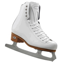 Riedell 223 Stride Womens Figure Ice Skates, White, 256
