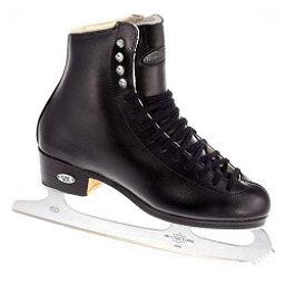 Riedell 23 Stride Boys Kids Figure Ice Skates, Black, 256