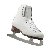Riedell 133 Diamond Womens Figure Ice Skates, White, medium
