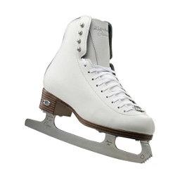 Riedell 133 Diamond Womens Figure Ice Skates, White, 256
