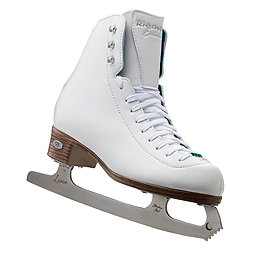 Riedell Emerald Girls Figure Ice Skates, White, 256