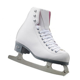 Riedell 14 Pearl Girls Figure Ice Skates, White, 256