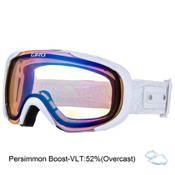 Giro Field Womens Goggles, White Geo-Persimmon Boost, medium