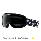 Giro Field Womens Goggles, Black Polka Dot-Black Limo, medium