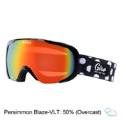 Giro Field Womens Goggles, Black Polka Dot-Persimmon Blaz, medium