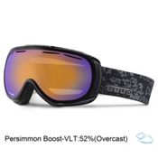 Giro Amulet Womens Goggles, Black Tapestry-Persimmon Boost, medium