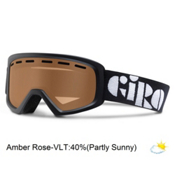 Giro Rev Kids Goggles 2016, Black-Amber Rose, medium