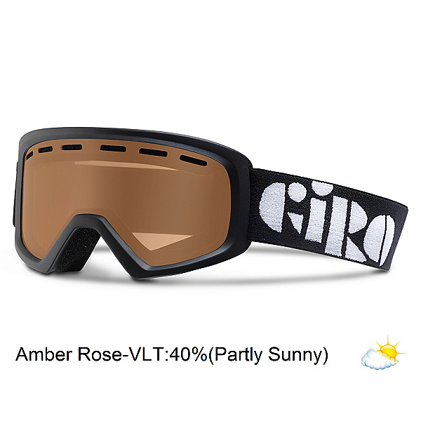 Giro Rev Kids Goggles, Black-Amber Rose, 600