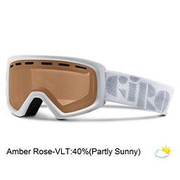 Giro Rev Kids Goggles, White-Amber Rose, 256